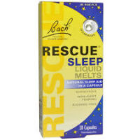 Bach Rescue Sleep Ingredients. Because Bach Rescue Sleep is a form of homeopathy, what are labeled as ingredients are not so in the traditional sense. Like other homeopathic remedies, Bach Rescue Sleep is a liquid preparation. The package says the active ingredients are Star of Bethlehem, Rock Rose, Cherry Plum, Impatiens, Clematis, and White Chestnut.
